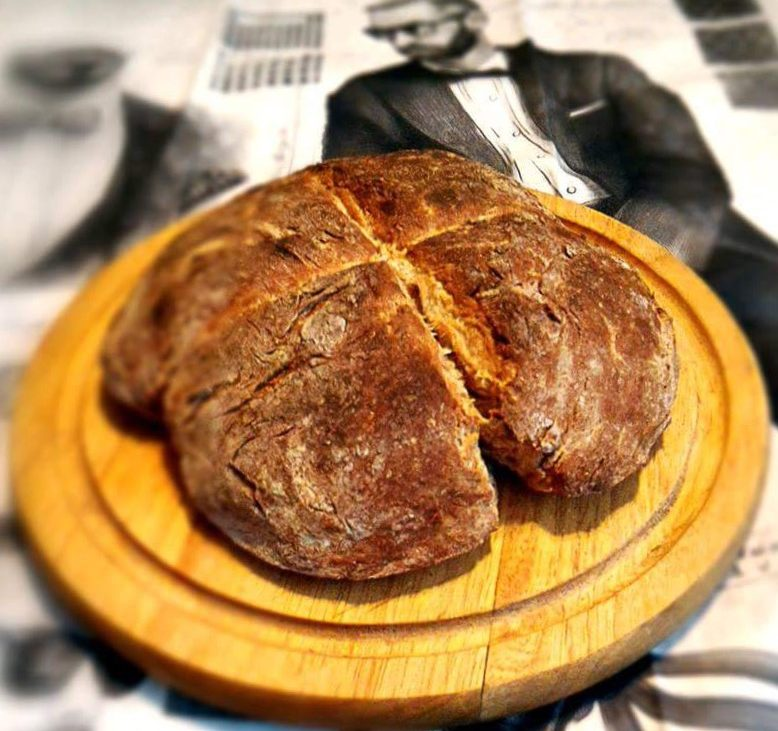 Irish Brown Soda Bread. Dashing Beauty! Brot selber backen, Foto (c) Andrea Pickl - kekinwien.at