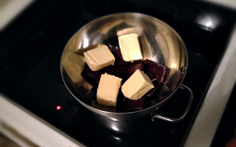 1. Schritt zur Glückseligkeit ... Brownies!