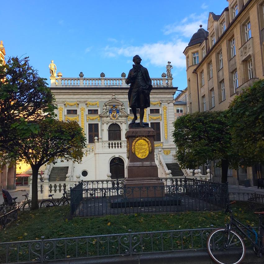 Goethe Denkmal vor der Börse, Leipzig, Foto (c) Christof Habres - kekinwien.at