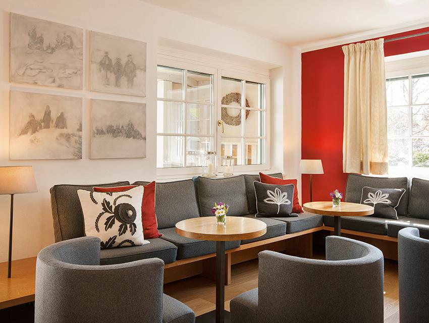 Die Lobby als Wohnraum, Foto (c) Seehotel Grundlsee