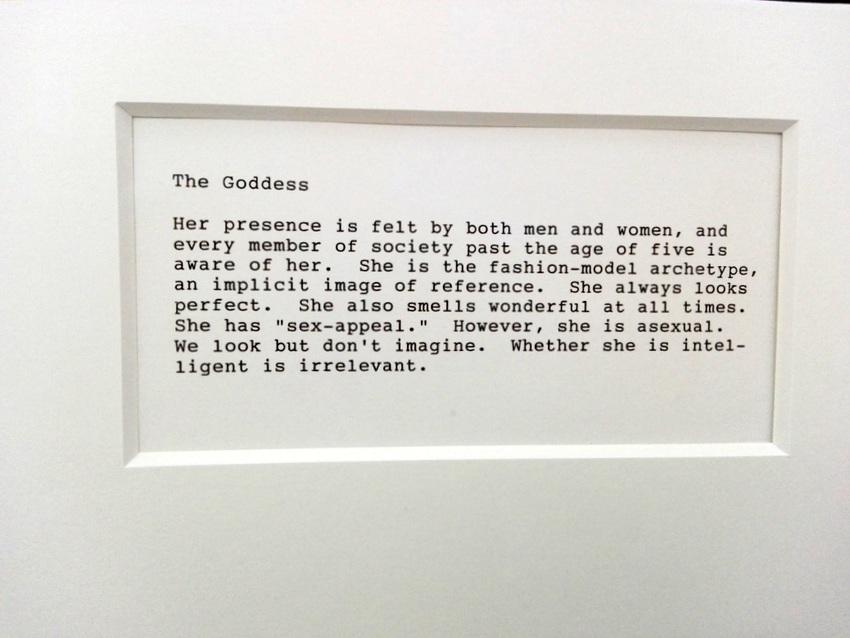 Textteil aus 'A Portfolio of Models', Martha Wilson, 1974 u 2009, Foto (c) Claudia Busser - kekinwien.at