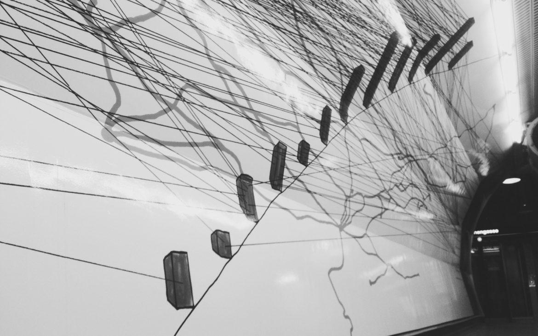"""Installation """"Herminengasse"""" von Michaela Melián für KÖR und die Wiener Linien, Foto (c) Andrea Pickl - kekinwien.at"""