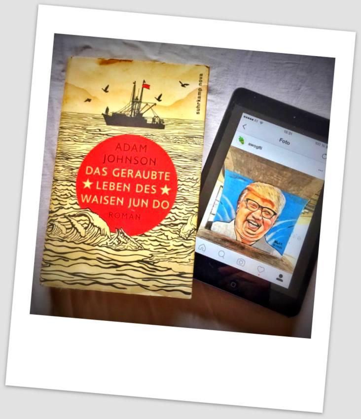 Das geraubte Leben des Jun Do, Collage zum Buchcover (c) Alexandra Wögerbauer-Flicker - kekinwien.at