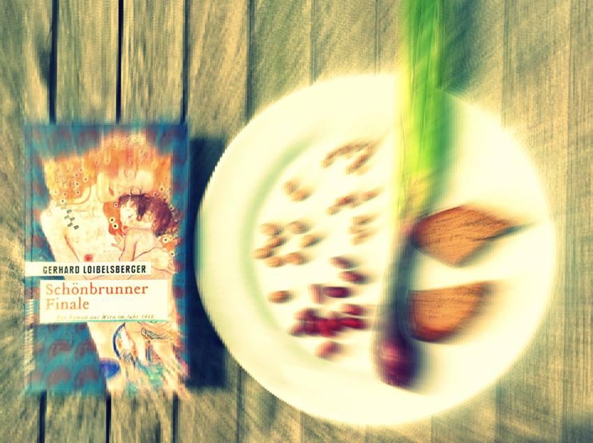 Schönbrunner Finale, Collage zu den Krimis um die Naschmarktmorde, Roman von Gerhard Loibelsberger, Bild (c) Alexandra Wögernauer-Flicker - kekinwien.at