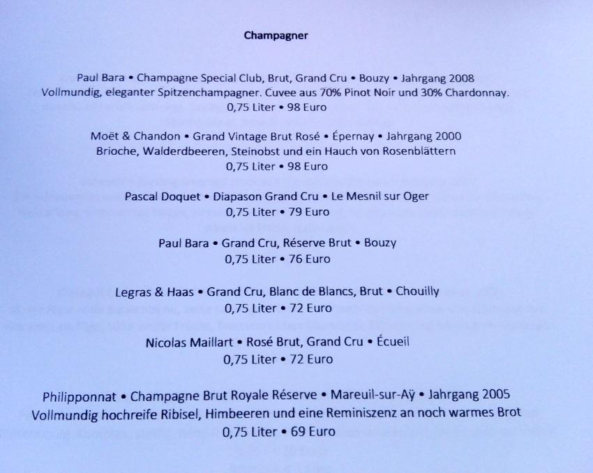 Champagnerkarte, Frau Bernhard (im August) Bild (c) kekinwien.at