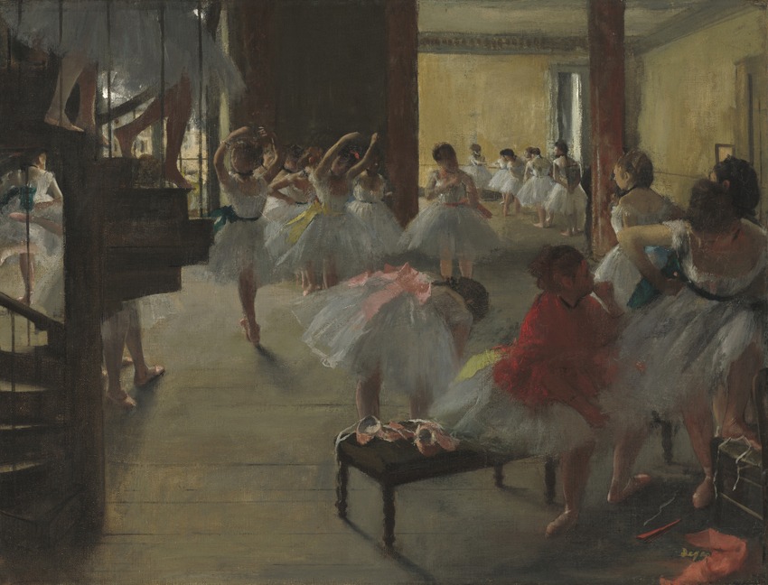 Hilaire-Germain-Edgar Degas (French, 1834 - 1917), The Dance Class, c. 1873, oil on canvas, Corcoran Collection (William A. Clark Collection) 2014.79.710
