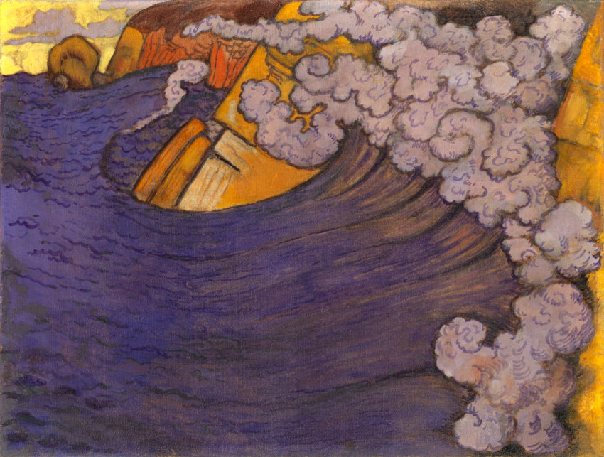 Georges Lacombe Die violette Woge, 1896/97 Öl auf Leinwand, 47,5 x 62,5 cm The George Economou Collection © Odysseas Vaharides / Courtesy The George Economou Collection