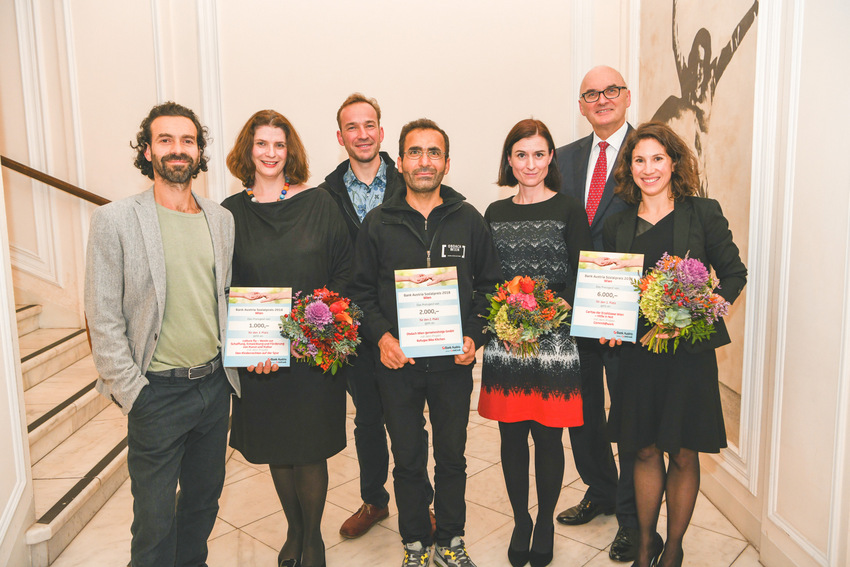 UniCredit Bank Austria Sozial Preis, die glücklichen GewinnerInnen, Wien 2018, Bild © Oreste Schaller