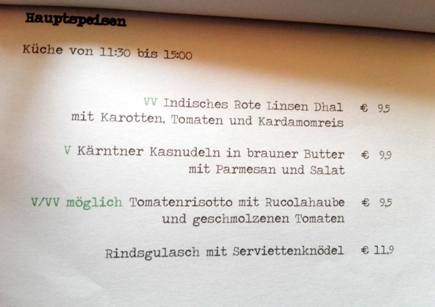 Auszug aus der Karte, Café Hildebrandt, Bild (c) kekinwien.at