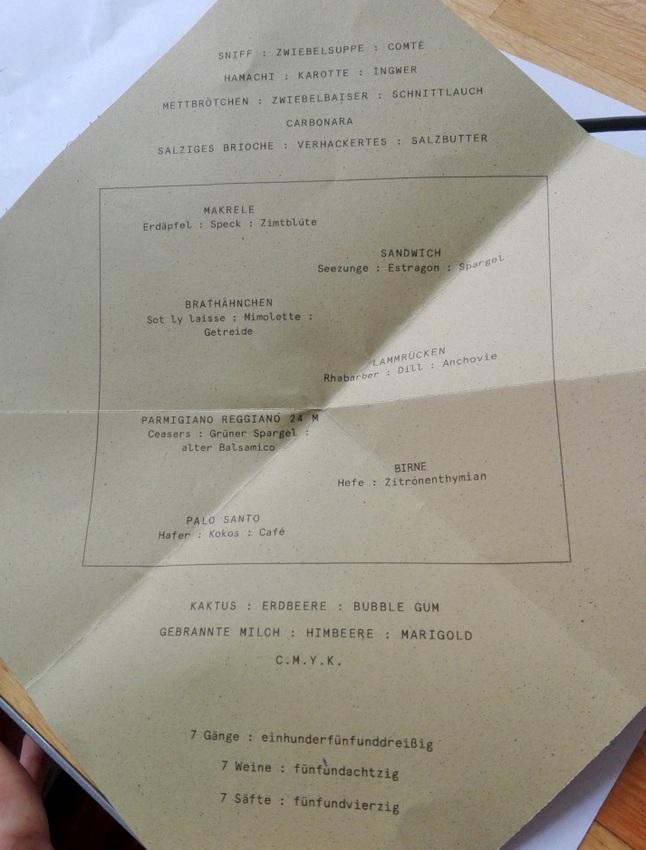 Herzig, das 1. Menü, sieben Gänge im Quadrat - kekinwien.at