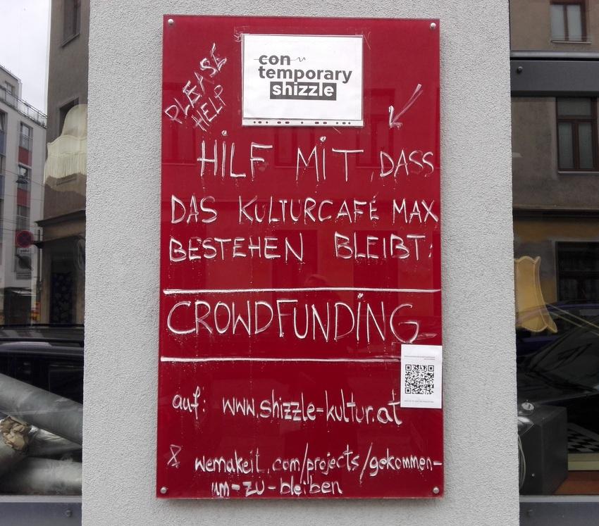 wemakeit, Aufruf zur Unterstützung via Crowdfunding, Kulturcafe Max in Hernals, Bild (c) kekinwien.at
