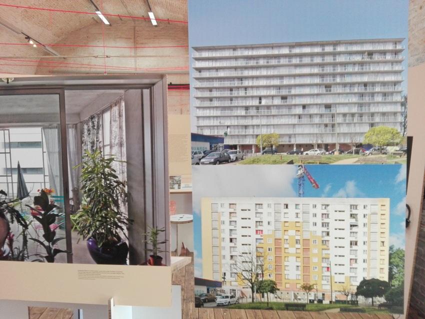 Teil der Dokumentation des Projekts in Cité du Grand Parc, oben rechts: nachher, darunter: vorher, Bild (c) Claudia Busser - kekinwien.at