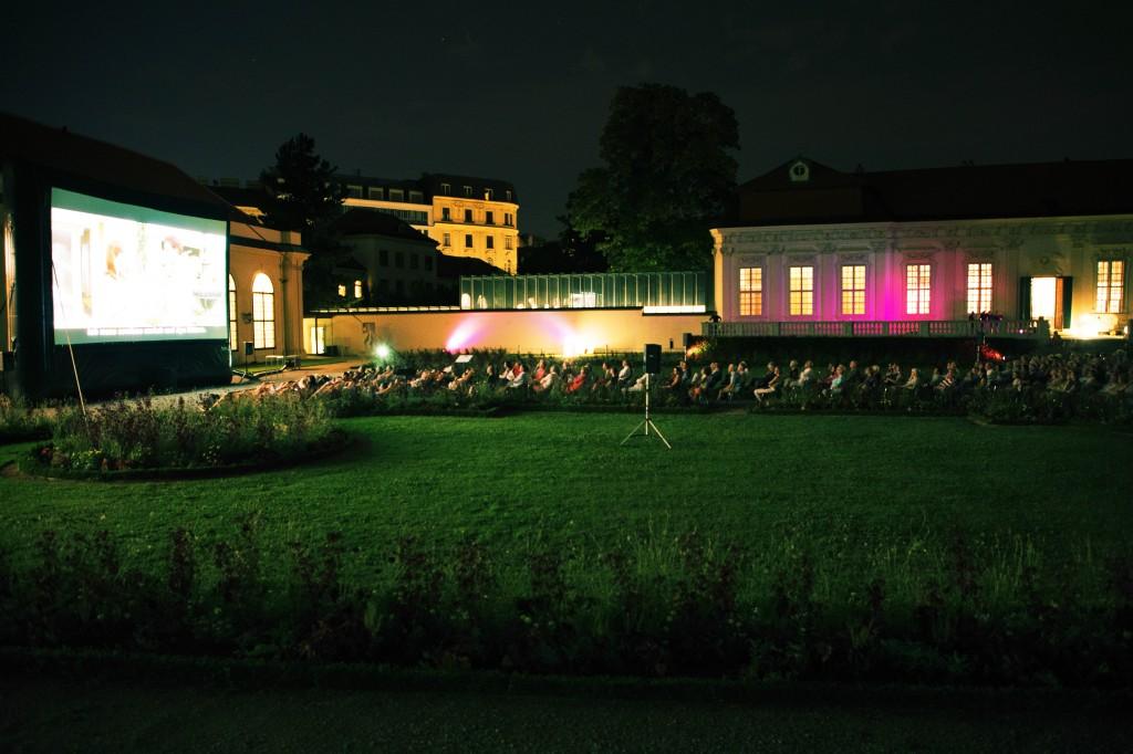 """Kino im Kammergarten Wien """"Spirit of 68"""" Foto: Franzi Kreis, (c) Belvedere, Wien"""