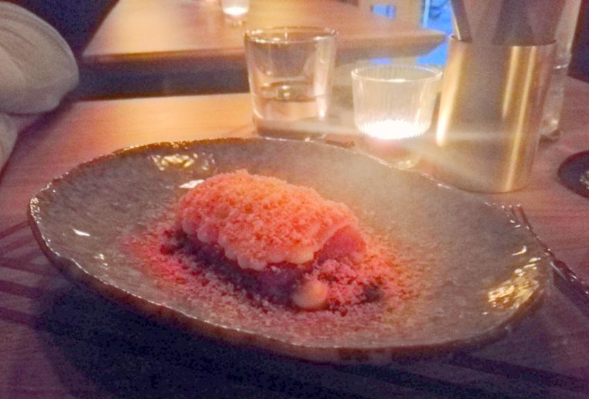 Erdbeer Mitzi, das Dessert im 1. Mixology Menue des Moby Dick, Bild - kekinwien.at