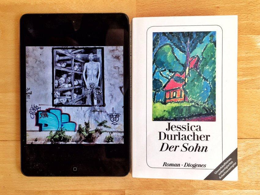 Der Sohn, Roman von Jessica Durlacher, Collage (c) Alexandra Wögerbauer-Flicker - kekinwien.at