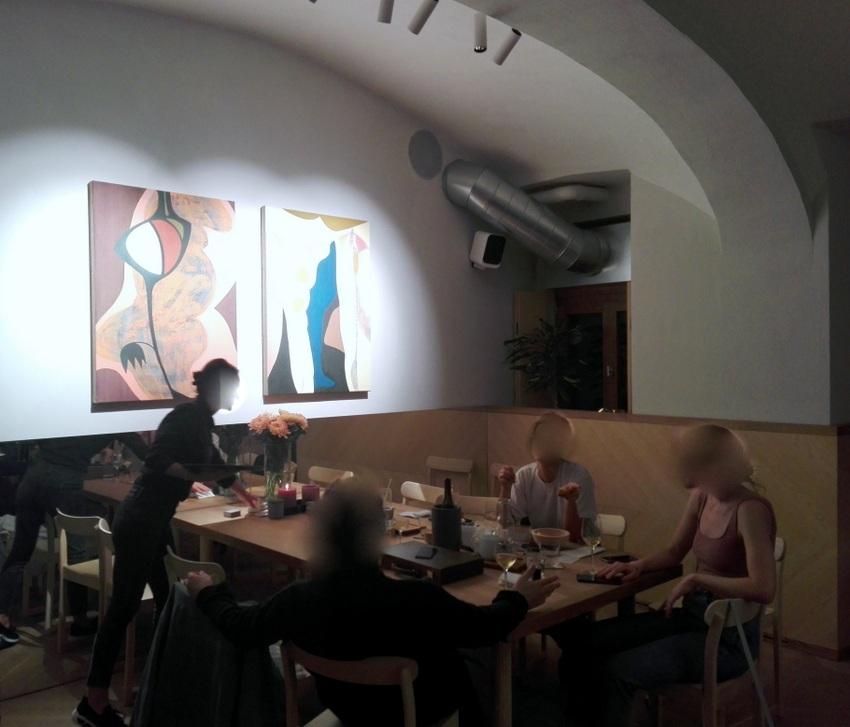 Der hintere, zweite Raum eignet sich besonders gut für größere Gesellschaften, Kandl, Bild (c) Claudia Busser - kekinwien.at
