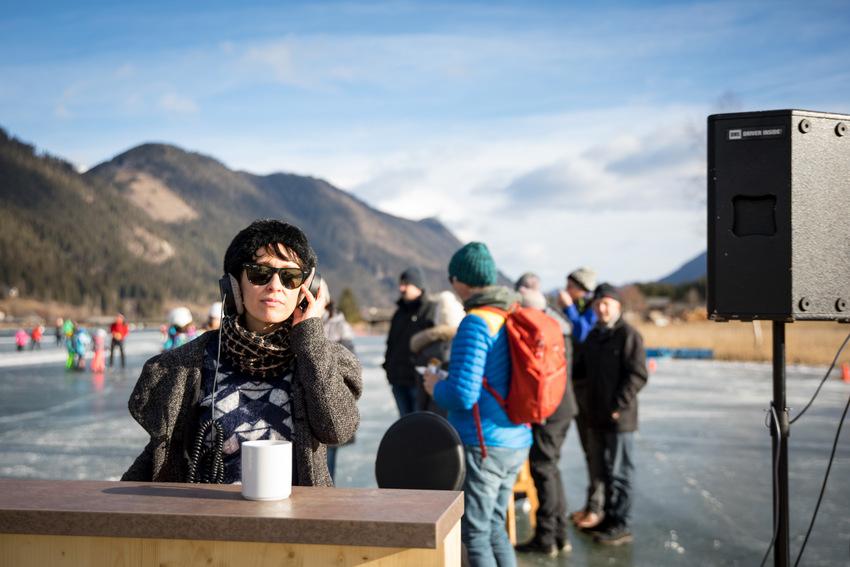 DJ Jane Jeschka Oszilat bei den Cocktailtagen Weissensee, Bild (c) Ulrike Zauner