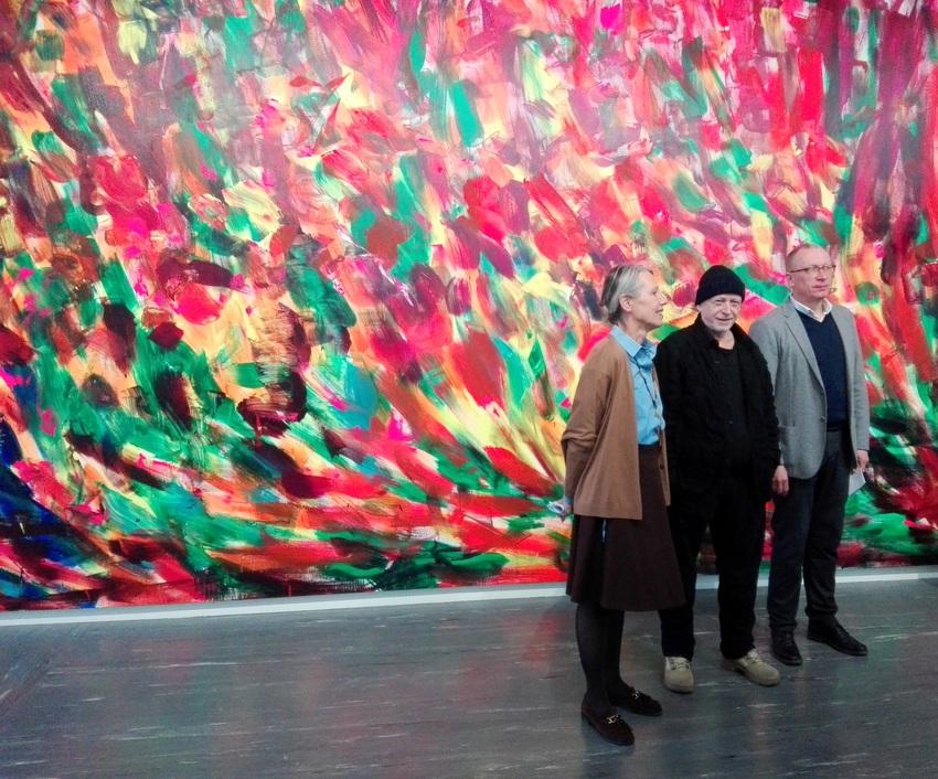 Stella Rollig, Herbert Brandl, Rolf H. Johannsen (v.l.n.r.), Pressetermin zur Ausstellung im Belvedere 21, Wien, Bild (c) Claudia Busser - kekinwien.at