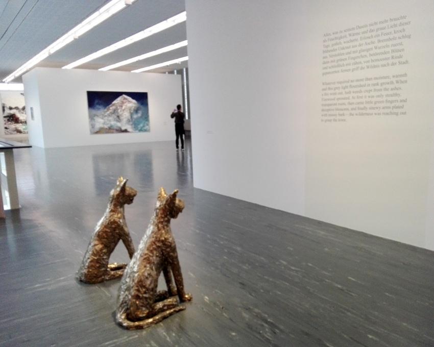Einblick in die Ausstellung HERBERT BRANDL. Exposed to Painting, Berlvedere 21, Wien, Bild (c) kekinwien.at